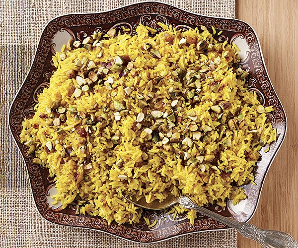 Serve this gorgeous, aromatic rice with roast chicken or braised lamb.