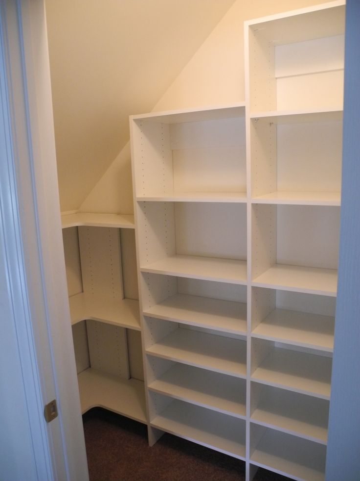Pantry with sloped ceiling  HousePantry  Attic rooms Attic loft Attic bedrooms