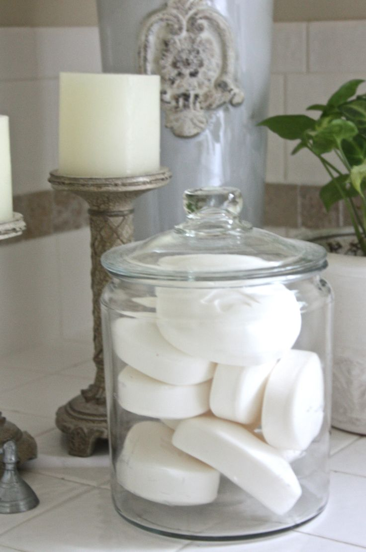 Multiple uses for simple glass jars. Love glass jars for storage, to store nail polishes