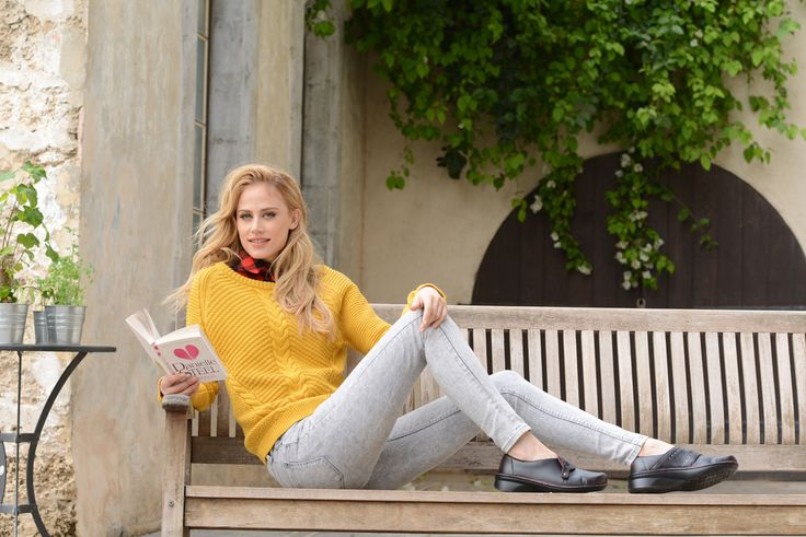 NAOT - BACH Volcanic Red (Lifestyle Image) #NAOT #slipon #footwear #shoes #orthoticfriendly #removableinnersole #velcro #fashion #comfort #winter #footwear #trends #book #daniellesteel #reading