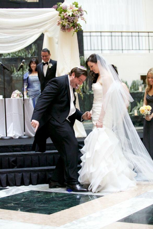 Modern Jewish Wedding Breaking The Glass From Austin Texas