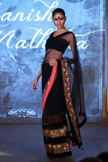 Manish Malhotra - Vogue's Black Sari Project #vogue #blacksariproject #manishmalhotra #embellished