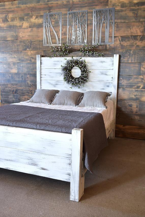 Best Shiplap Platform Bed Wood Bed Frame Platform Bed Queen 640 x 480