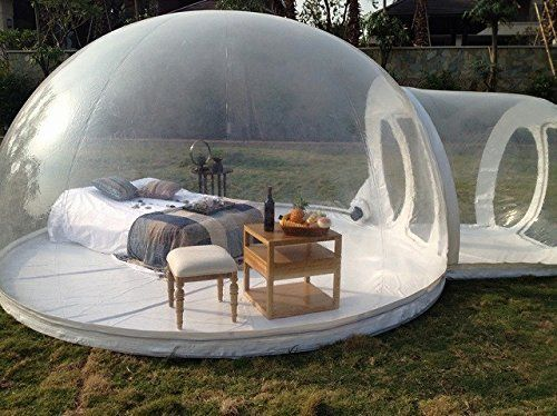 Amazon.com: HolleywebTM Inflatable Bubble Tent House Dome Outdoor Clear Show Room with 1 Tunnel for Camping for Photo: Photographs