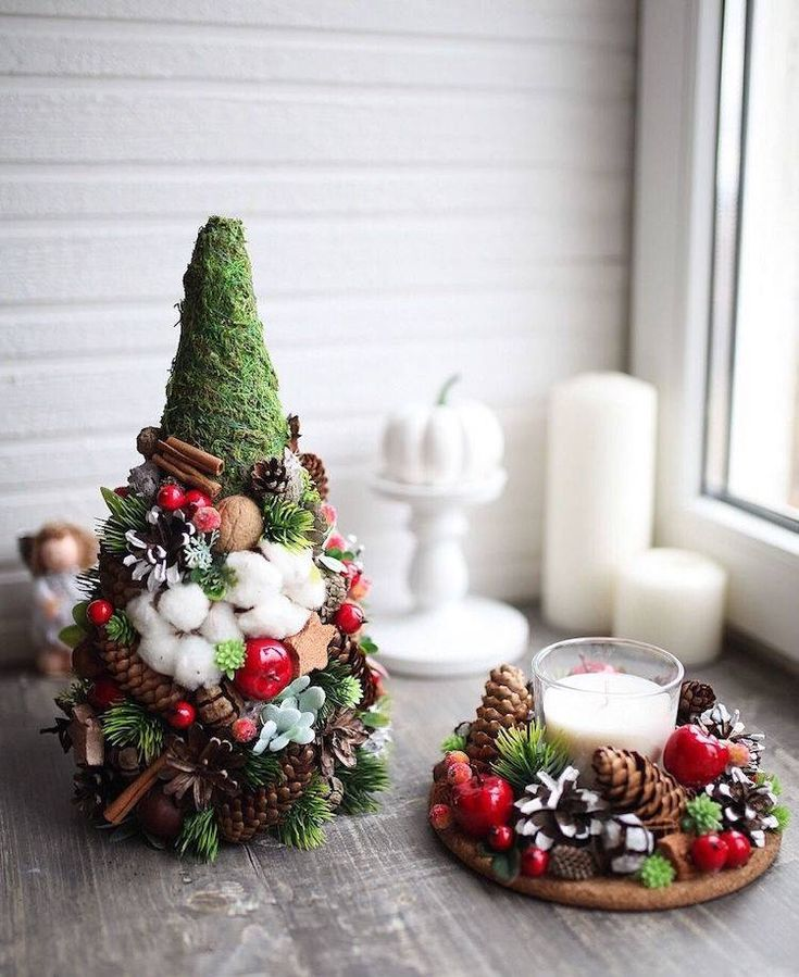 Natural And Sophisticated Christmas Decoration Ideas In Cotton