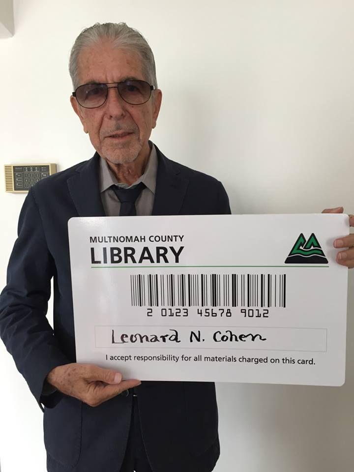 Leonard Cohen - Multnomah County Library on facebook