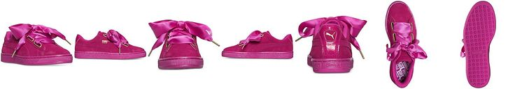 Puma Women's Suede Satin Heart Casual Sneakers from Finish Line