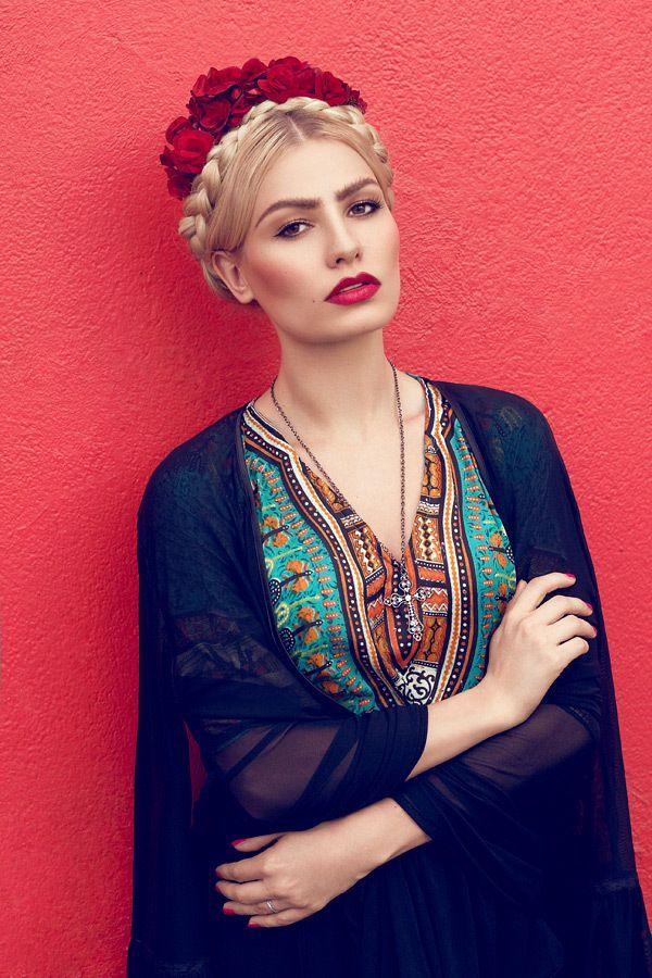 Couronne tressée cheveux blonds. #mexicain #hairstyle #tresse #blondhair…