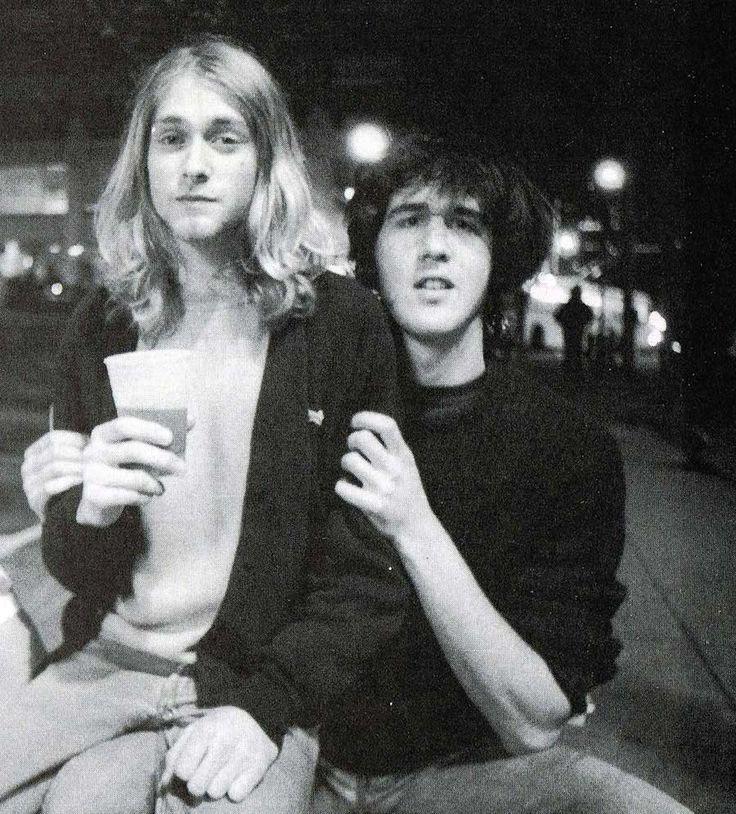 Kurt Cobain and Krist Novoselic | Rare and beautiful celebrity photos