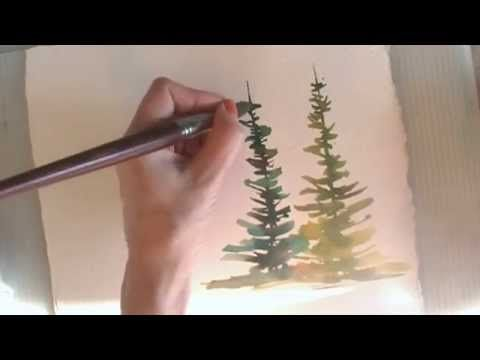 ▶ How to Paint Trees in Watercolor: Summer & Spring - YouTube