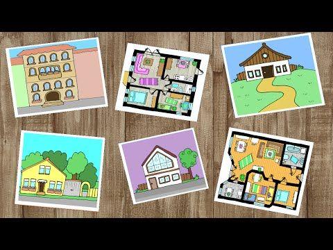 Deutsch lernen: Haus, Wohnung und Zimmer / apprendre l'allemand: les pièces de la maison - YouTube
