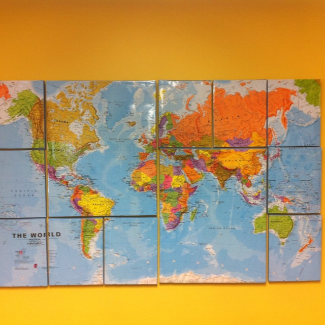 We'll be pinning flags of countries in the 10/40 window.