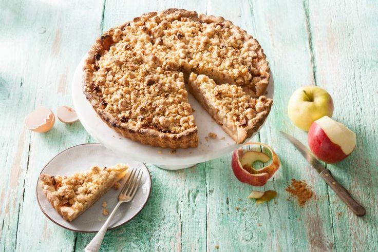 Kijk wat een lekker recept ik heb gevonden op Allerhande! Glutenvrije appelkruimeltaart