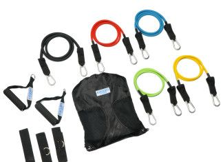 ONLY $15 – COST PRICE FOR AN HONEST REVIEW – 11 Pce Resistance Band Set