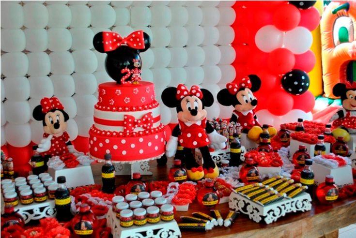 Decoração de festa infantil minnie
