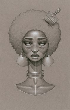 Logo Ideas african woman drawing afro ponytail shadow - Google Search