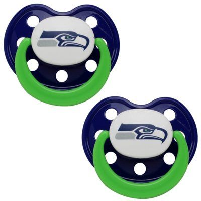 Seattle Seahawks College Navy 2-Pack Pacifier
