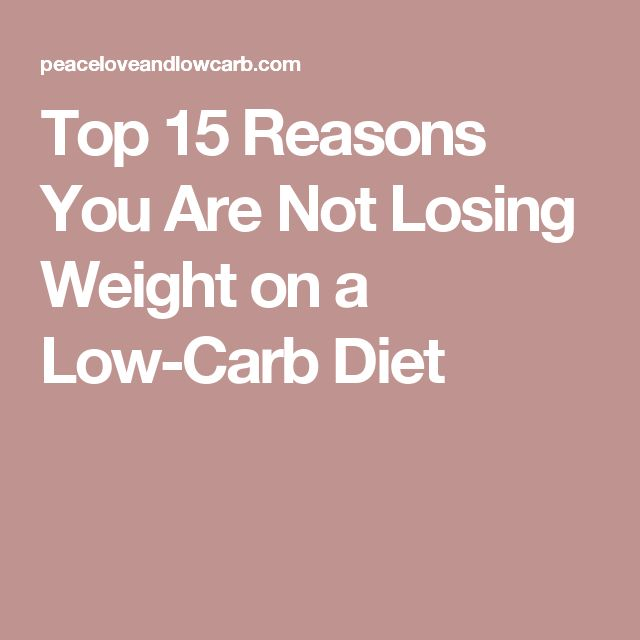 Not losing on low carb diet