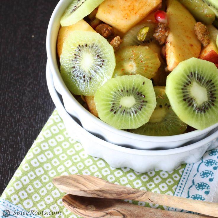 Kiwi Mulberry Pomegranate Mixed Fruit Chaat