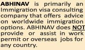 With thousands of successful migration cases behind us and still counting we the Abhinav are unchallenged leaders in Immigration to Australia. Besides  being one of the few MARA registered Consultants serving populace of Bangalore we also have the distinction of pioneering several revolutionary service concepts that has paved way for fostering of development of trust between clientele and Immigration advisory agencies.