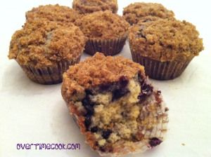 World's Best Blueberry Crumb Muffins - Overtime Cook