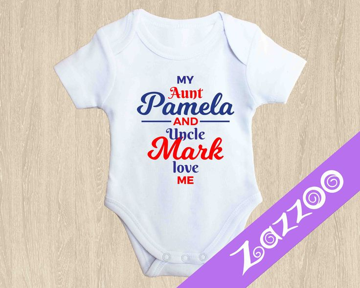 Personalized Onesie, Personalized Bodysuit, Personalized Romper, Baby shower gift, Customized onesie, Love my aunt uncle grandma nanna pop by Zazzoo on Etsy