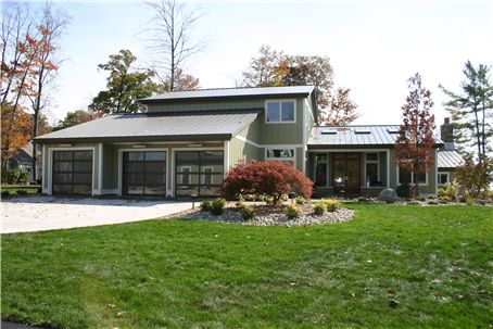 """""""Eagle's End,"""" Pierson, Michigan (1 of 4). Winner of the 2011 Silver BALA for Best Remodel of an Entire Home. Architect/Designer: Bob Landman. Remodeler/Interior Architect: Creekside. Interior Designer: Ashley Cole Designs."""