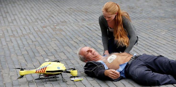 Un drone ambulance pourdes victimes de crises cardiaques.