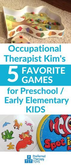 Developmental Skills Games For Kids | Occupational Therapy Tips For Kids | Fine Motor Skills | Social Skills Games | All Five Games Here: http://www.preferredtherapytoys.com/my-5-favorite-games-for-preschoolearly-elementary/?utm_source=pinterest.com&utm_medium=social&utm_campaign=ba5FavoriteGames&utm_content=TwoPicsBlueTxtMid