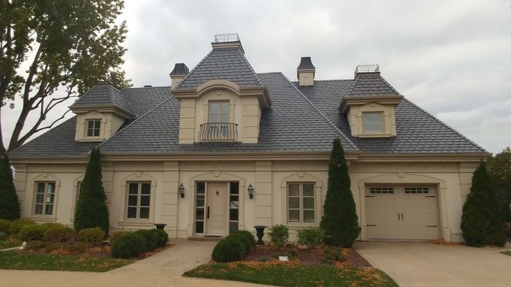 Heritage Slate in Sterling Grey #grey #slate #roofing #home #rubberroofing #roofingmaterial #euroshield #roofingproducts #design #contractor #lifetimewarranty #canadianmade #yyc #renos