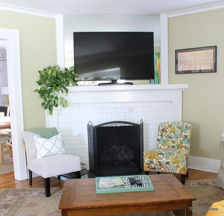 Use a plant to hide tv cords. | DIY {Home Decor