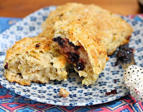 Raisin-banana scones, to start the day, from The Perfect Pantry.