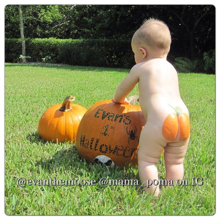 babys first halloween pumpkin butt evanthemoose mama_poma on - Baby First Halloween
