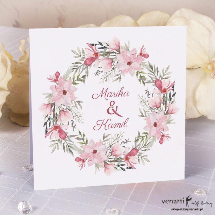 Zaproszenie ślubneMagnolia (Kod: K041) Zaproszenia ślubne -Venarti - Sklep ślubny Słupsk