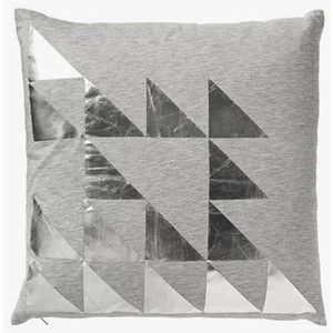 Cushion - Triangles - Silver – Shut the Front Door! online