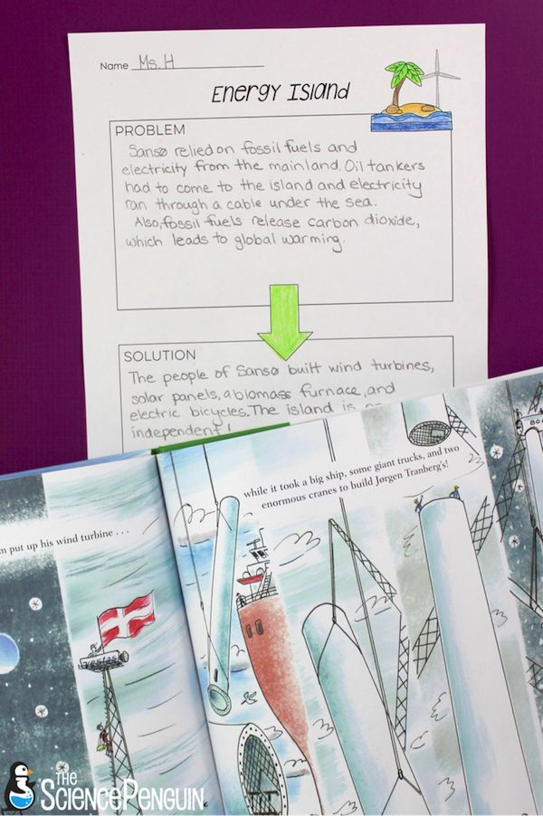 Picture Book Science Lessons: Energy Island (wind energy, renewable resources, and alternative energy)