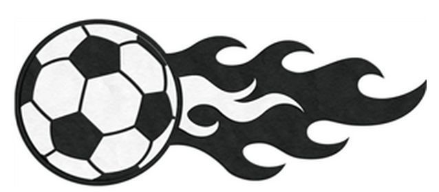 Perfect for Micah's sports theme growth chart or even his room. Cute soccer ball with flames decal sticker.