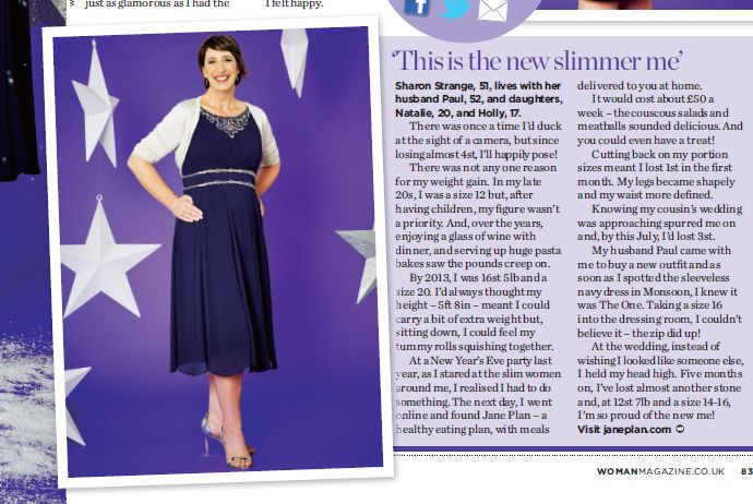 Glamorous #janeplanner Sharon the December issue of Woman Magazine.