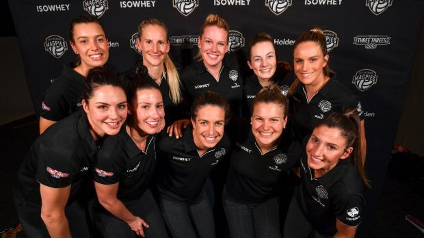 The launch of the impressive Collingwood Magpies netball team in September.Photo: Eddie Jim
