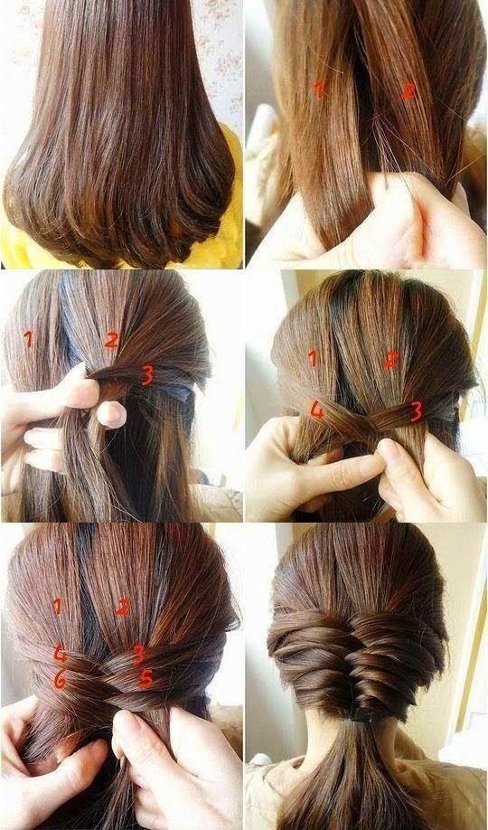 imgenes de peinados sencillos y prcticos muy fcil de hacer paso a paso