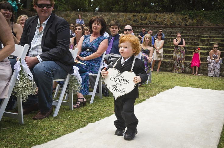 Here comes the bride <3 = so cute!! Little Pageboy at my daughters wedding