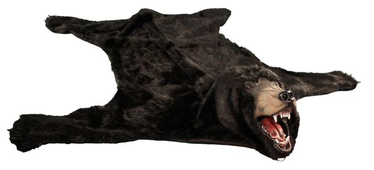 fake bearskin rug | Details about Realistic Faux Bear Skin Rug Brown Black or Polar White