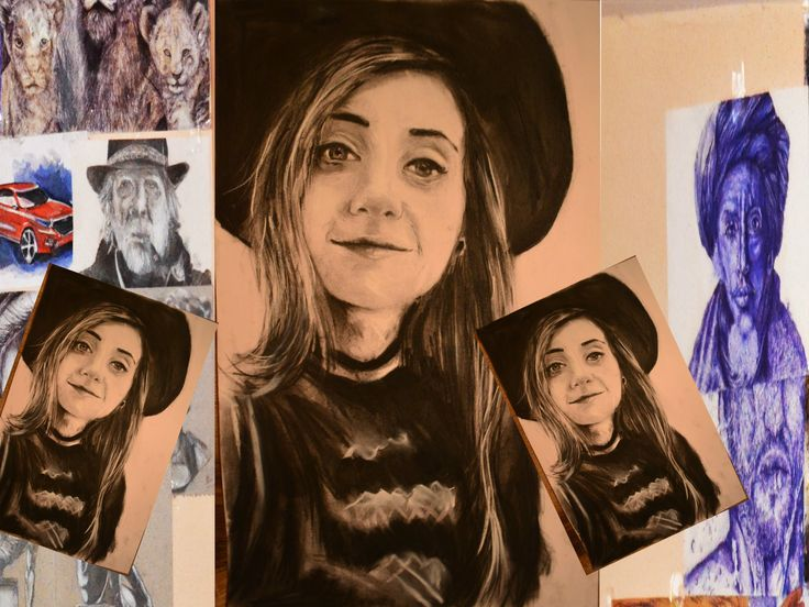 Portret in creion realistic Bianca Adam #tequila YouTube-ri romani # 3