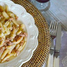 Gnocchetti alla crema di cipolla. Condivisa da: http://lapanciadellupo.blogspot.it