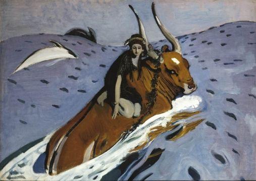 The rape of Europa by Valentin Aleksandrovich Serov, 1910. The State Tretyakov Gallery, Public Domain