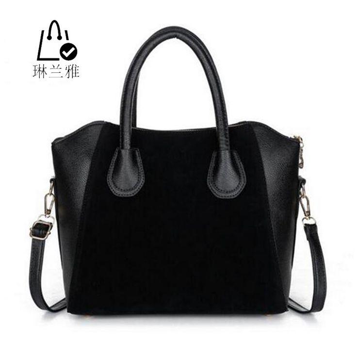 LINLANYA  HOT! Fashion bags 2016 women's nubuck leather patchwork handbag smiley bag women shoulder bag women's bags