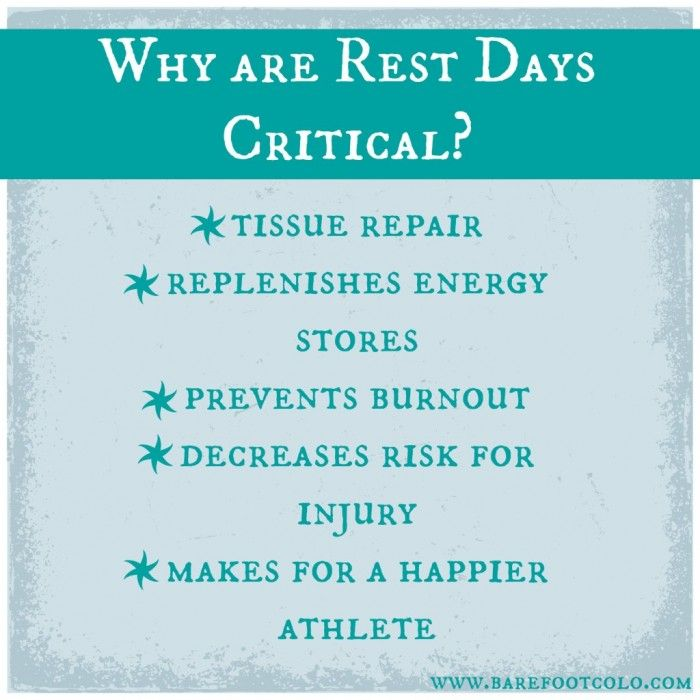 Image result for importance of rest days