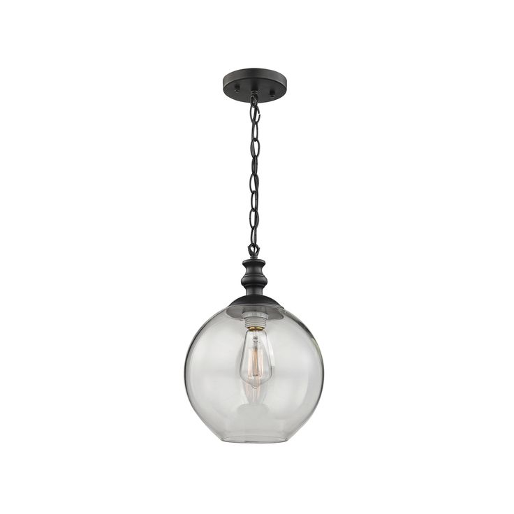 elk lighting bergen oil rubbed bronze pendant light with globe shade at destination lighting