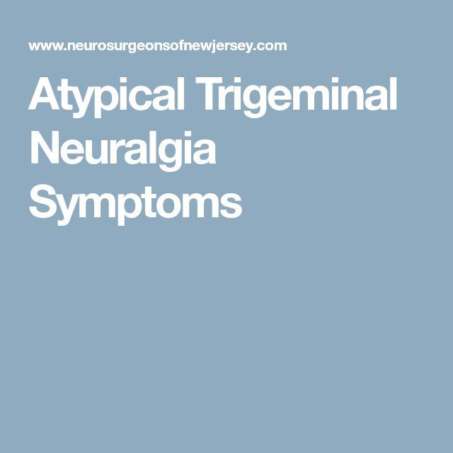 Atypical Trigeminal Neuralgia Symptoms
