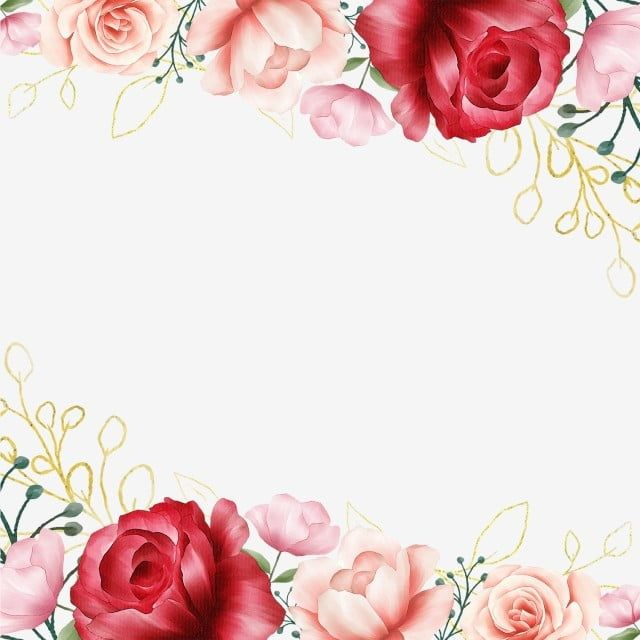 Watercolor Flowers Elements With Golden Floral Decoration Watercolor Clipart Flower White Png Transparent Clipart Image And Psd File For Free Download Pink Watercolor Flower Flower Background Wallpaper Flower Frame